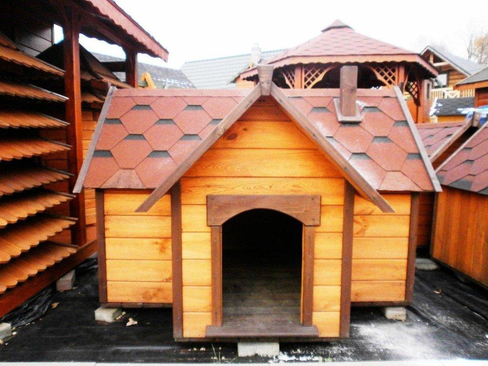 Große Hundehütte mit Veranda - Miedziński