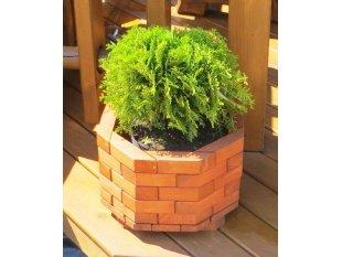 Small octagonal flower pot