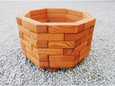 Big octagonal flower pot