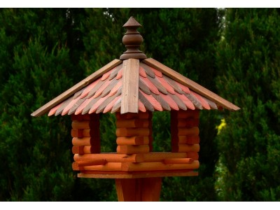 Small square bird feeder