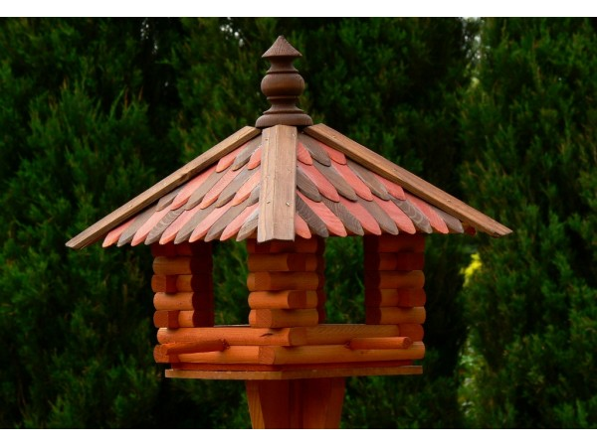 Small square bird feeder