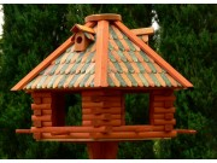 Large hexagon bird feeder