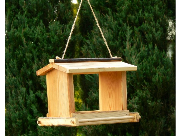 A feeder on a string or with a hole